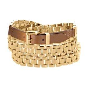Michael Kors Bracelet Multiwrap Goldtone&Leather